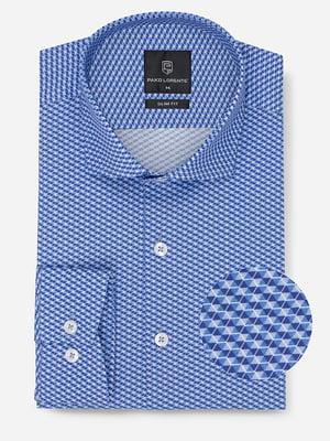 Сорочка синя в принт | 4823229