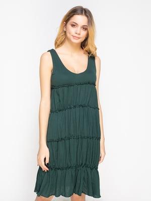 Платье темно-зеленое | 2184558