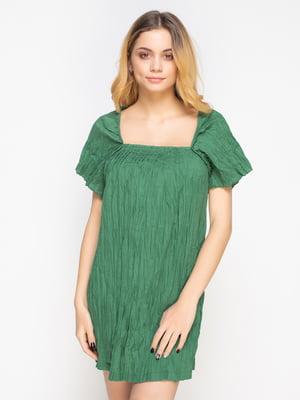 Туніка зелена з ефектом жатої   557922