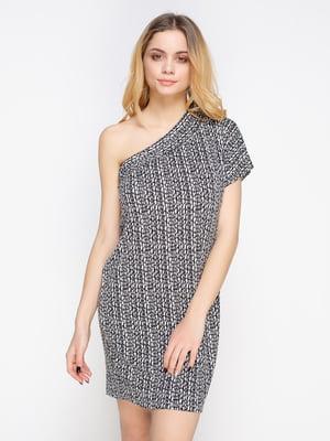 Платье-туника черно-белое | 2196411