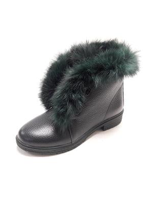 Ботинки темно-зеленые | 4827831