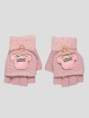 Рукавички темно-рожеві | 4808945