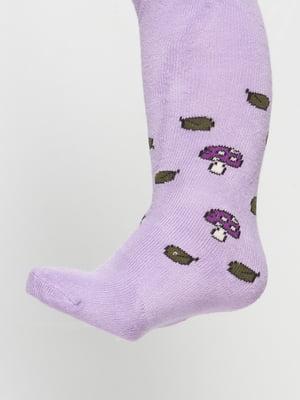 Колготки фіолетові з малюнком | 4808898