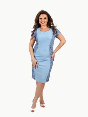 Платье голубое | 4410328