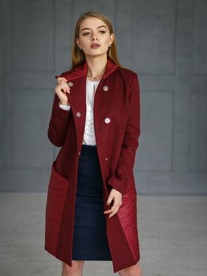 Пальто бордовое | 4828663