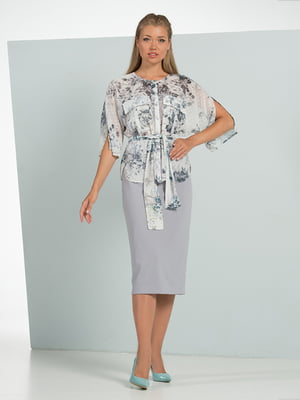Блуза в цветочный принт   4519005