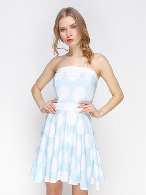 Платье голубое в белый горох | 2298192