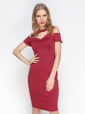 Сукня кольору марсала | 3098654