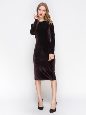 Сукня кольору баклажан велюрова   2832703