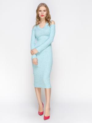 Платье бирюзовое | 2981654