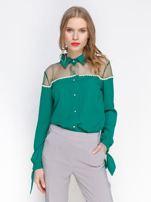 Блуза зеленого кольору | 2981629