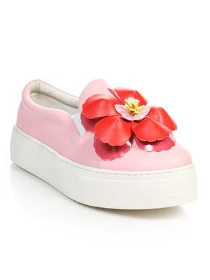 Сліпони рожеві з декором   4238346