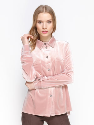 Блуза кольору пудри | 3098635