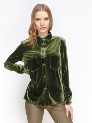 Блуза цвета авокадо | 3098634