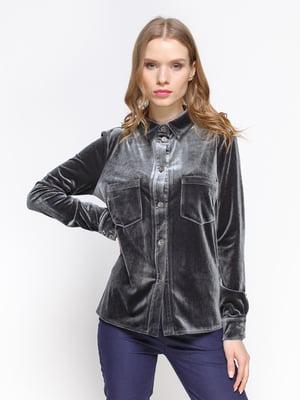 Блуза темно-серая | 3098636