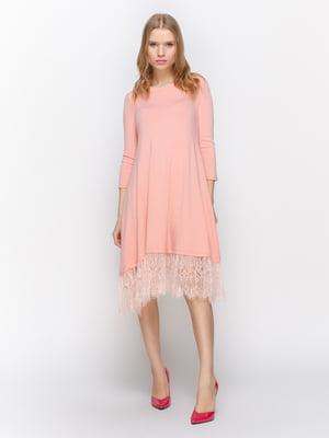 Платье персикого цвета | 3098648