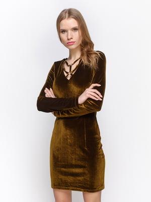Платье оливкового цвета | 2873353