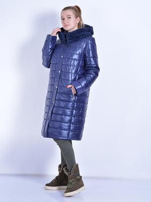Пальто синее   4834518
