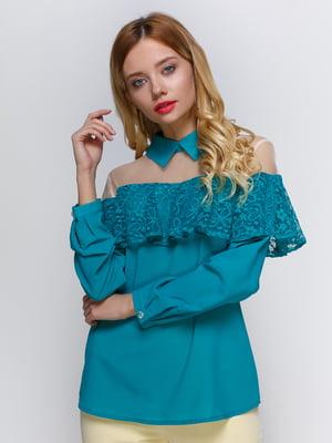 Блуза бірюзова | 3109160