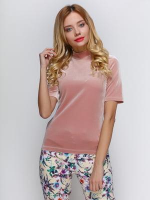 Блуза цвета пудры | 3098633