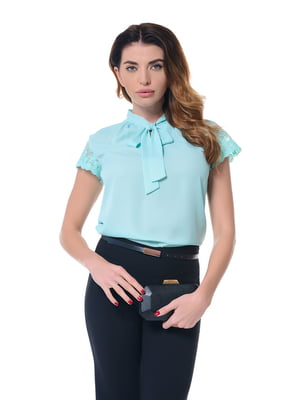 Блуза бирюзовая | 4836622
