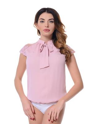 Блуза-боді кольору пудри | 4836626