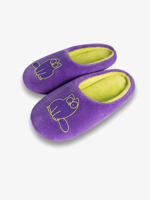 Тапочки домашние фиолетовые | 4839709