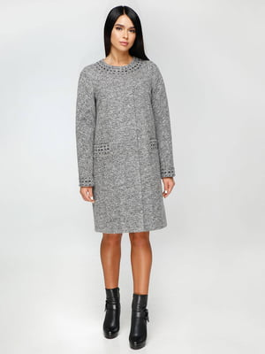 Пальто сіре | 4711652