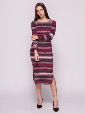 Сукня бордова в смужку | 3966603