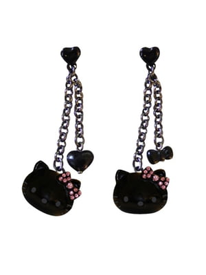 Серьги-цепочки Hello Kitty | 4830507