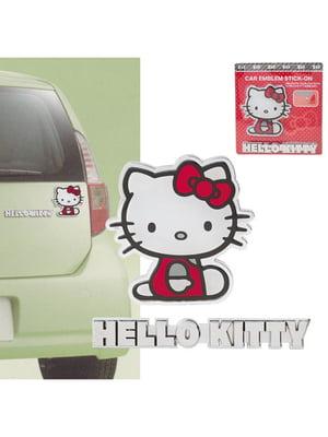 Пластиковая наклейка на машину Hello Kitty | 4830649