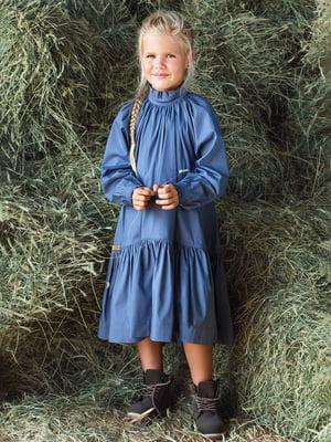 Платье-рубашка графитового цвета | 4840200