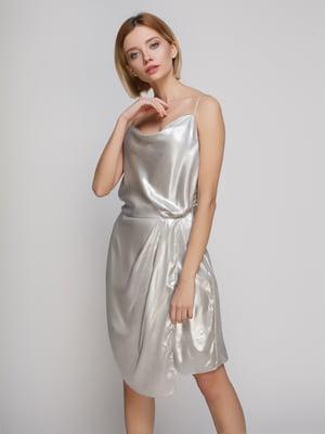Платье серебристое | 4544784