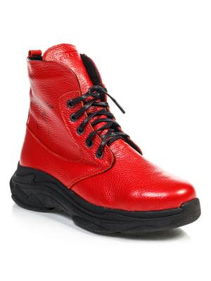Ботинки красные   4840895