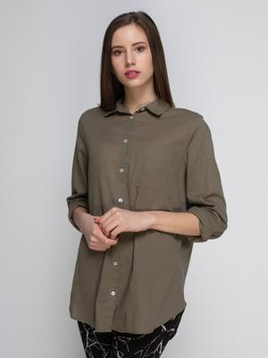 Рубашка цвета хаки | 4544991