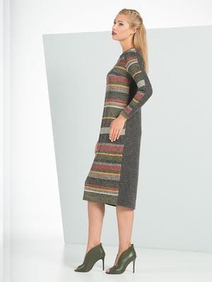 Платье серое с принтом   4836852