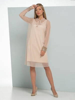 Платье бежево-золотистое   4836921