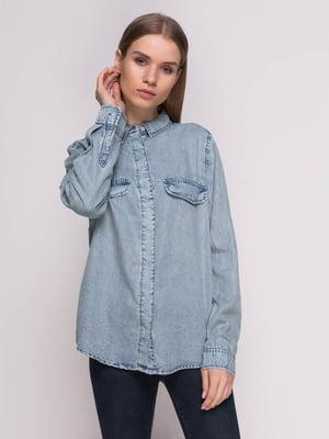 65ee9b22ce1 Рубашка голубая джинсовая
