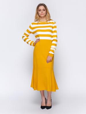 Сукня жовта в смужку | 4840103