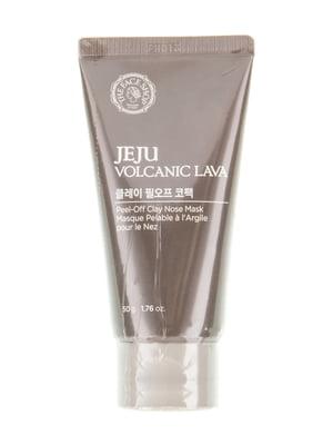 Маска від чорних цяток Jeju Volcanic Lava Peel Off Clay Nose глиняна (50 мл) | 4855943
