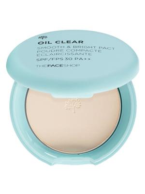 Пудра компактна Oil Clear Smooth & Bright Pact SPF30 PA++ №201 — абрикосово-бежевий | 4855944