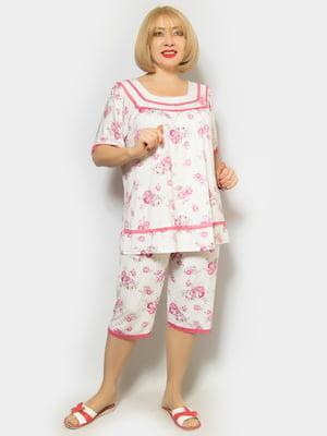 Пижама: футболка и капри | 4842320