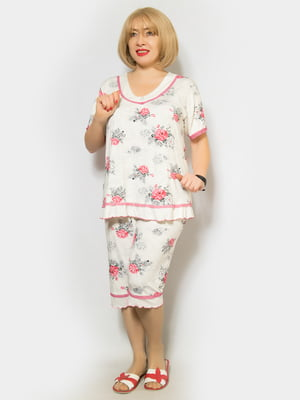 Пижама: футболка и капри | 4842321