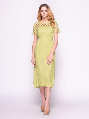 Платье фисташкового цвета | 4855859