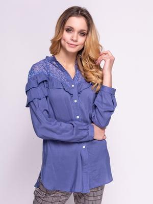 Блуза синяя | 4855842