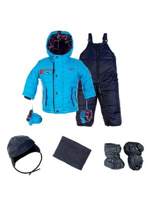 Комплект: куртка, напівкомбінезон, шапка, шарф і рукавиці | 4783653