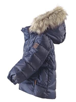 Куртка-пуховик темно-синя | 4856625