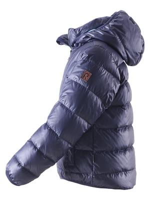 Куртка-пуховик темно-синя | 4856652