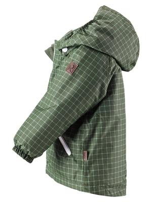 Куртка зелена в клітинку | 4856671
