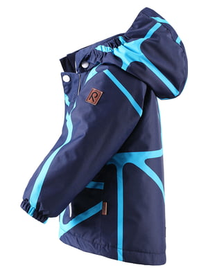 Куртка синя в принт | 4856675